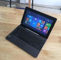 Laptop Asus T100 Atom 2G, SSD 32G, cảm ứng 2in1 like new zin 100%