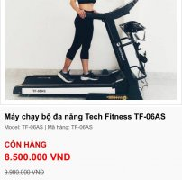 Máy chạy TF 06AS Tech Fitness