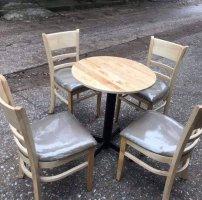 Thanh lý Bộ bàn 4 ghế cabin lót nệm cao cấp giá rẻ