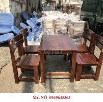 Bàn ghế gỗ cà phê milano hàng tồn thanh lý giá rẻ