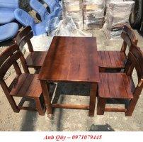 Bán bộ bàn ghế cafe milano gỗ có tựa hàng tồn kho