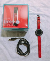 Pebble time round (14mm) - Red