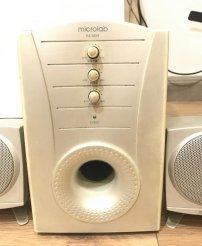 Dọn nhà thanh lý loa vi tính Microlab 2.1 M500 cũ xin chưa sửa chữa bao giờ